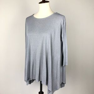 COS Gray Hi-Low Swing Top size Small
